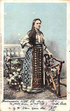 Salutari-din-Romania-Traditional-Folklore-Dress-Costume-Woman-1904