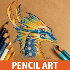Color Pencil Art : Innovative creations in color pencil art is rapidly entering a new level of appreciation in the art world. Alvia Alcedo is a Russian fantasy artist and crafter who creates painting