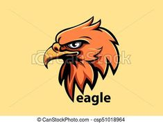 Vector - Eagle head - stock illustration, royalty free illustrations, stock clip art icon, stock clipart icons, logo, line art, EPS picture, pictures, graphic, graphics, drawing, drawings, vector image, artwork, EPS vector art