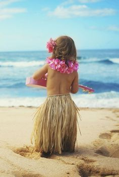 Little Hula Girl on the Beach