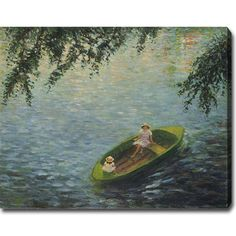 YGC Henri Lebasque 'Young Girls in a Boat on the Marne' Oil Art