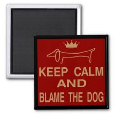 Dachshund, Keep Calm Blame Dog Refrigerator Magnets