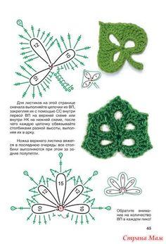 Азбука рукоделия. Красивые цветы и листики. Мастер-классы по вязанию крючком