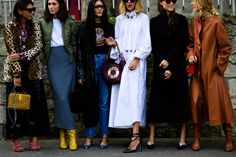 Paris Fashion Week's Best Street Style Is All About Dark Layers and Primary Colors Photos | W Magazine