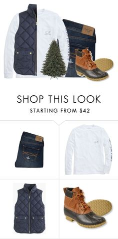 """Day 5- getting a Christmas tree"" by hmcdaniel01 ❤ liked on Polyvore featuring Abercrombie & Fitch, Vineyard Vines, J.Crew, L.L.Bean and twelvedaysofchristmas2k15"