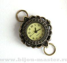 Часы-основа кварцевые под античную латунь 31х27мм орнамент №3 арт.704069