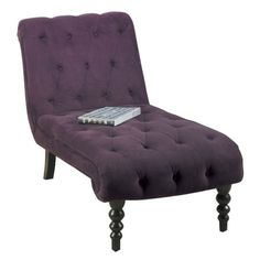 Chaise me on pinterest chaise lounges chaise lounge for Ave six curves velvet chaise lounge