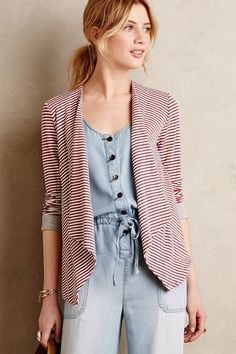 Striped Terry Cardigan - anthropologie.com #anthrofave