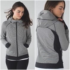 LULULEMON Quiet Stripe Scuba Hoodie Sz 4 NWT Beautiful NWT Authentic Lululemon heathered black Toni's, quiet parallel striped scuba hoodie III. Size 4 This is the Terry hoodie, super soft, has stretch, lighter weight fabric. The stripes alternate in color🚫NO TRADES🚫 🌺Act Like A LADY!🌺 lululemon athletica Tops Sweatshirts & Hoodies
