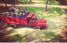 I want to drive away from the wedding/ reception in a vintage truck! awww