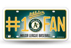 Oakland Athletics License Plate - #1 Fan