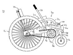 A Graphic Shows the Working Parts of the All-Terrain Wheelchair