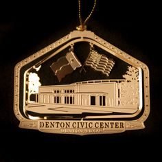 Denton Civic Center Ornament | DHLF : Denton Holiday Lighting Festival