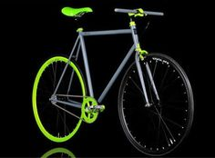 mean green, black and grey fixed gear