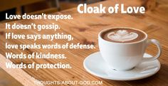 A Cloak of Love   Thoughts about God Daily Devotional by Max Lucado