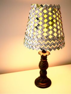 DIY Candy Wrapper Lampshade Sleeve - #Upcycle This! 13 Ways to Reuse Candy Wrappers #crafts #diy