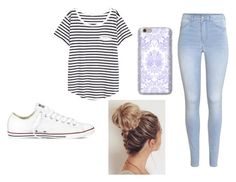"""""""School outfit"""" by maddyoneill ❤ liked on Polyvore featuring H&M and Converse"""