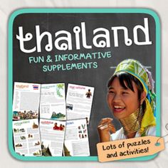 FREE Thailand (a country study) from Thematic Worksheets on TeachersNotebook.com -  (14 pages)  - Let's get to know Thailand!