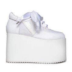 c99d4a54bb40 LAStyleRush. White Platform SneakersWhite ...