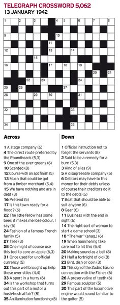 The Imitation Game: Could you have been a codebreaker at Bletchley Park? original crossword