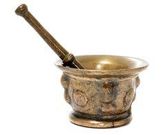 Bronze mortar & pestle, Spanish 16th century