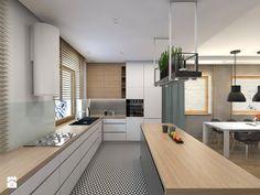 Projekt domu jednorodzinnego 8 - Kuchnia, styl skandynawski - zdjęcie od BAGUA Pracownia Architektury Wnętrz