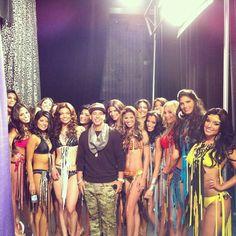 Daddy Yanke con las chicas de Nuestra Belleza Latina!!