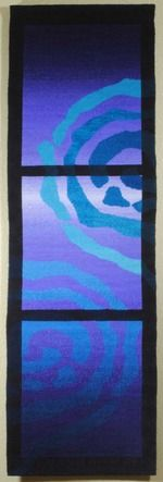Rebecca Mezoff, tapestry artist - Emergence VI 16x49 inches