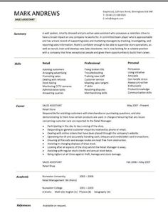 Resume For Retail Jobs Example Of A Resume With A Key Skills Sectionthe Skills Section .