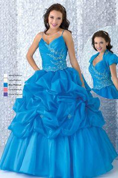Spaghetti Straps Quinceañera Dress Sweet Sixteen Dress