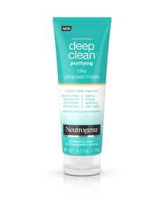 Deep Clean® Purifying Clay Face Mask & Cleanser | Neutrogena®