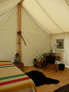 Heritage c&ing Canada Interior of canvas tents with Hudsonu0027s bay blanket & Finch Hattons Kenya Africa Luxury rustic safari camp tents ...