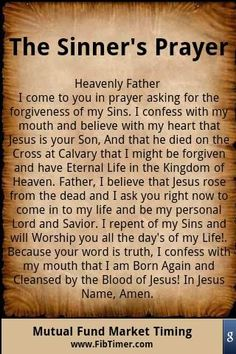 Repeat this prayer if you want to live an eternal life in Heaven. Jesus paid the price to save us all from our sins! He loves you. Such a powerful prayer.