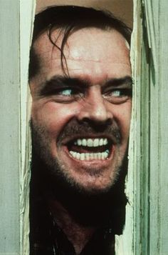 "Jack Nicholson as Jack Torrance in The Shining (1980) - ""Here's Johnny!!"""