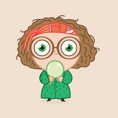 Professor Sybil by Pepe Rodriguez Hery Potter, Cumpleaños Harry Potter, Harry Potter Friends, Harry Potter Cartoon, Harry Potter Stickers, Harry Potter Drawings, Harry Potter Tumblr, Hogwarts, Estilo Harry Potter