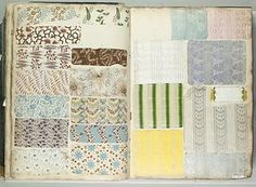 ¤ Textile Sample Book Date: 1821 Culture: French Dimensions: H. 15 7/8 x W. 11 1/4 inches 40.3 x 28.6 cm Th. 2 inches 5.1 cm  Accession Number: 67.180.2