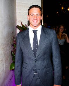 Olympic medalist Ryan Lochte ditched his Speedo for a chance to hang out with the well-heeled #NYFW crowd. #BrianAtwood
