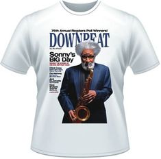Our exclusive heavyweight cotton Sonny Rollins T-shirt - White https://subforms.com/downbeat/store/product.asp?id=107