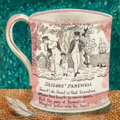 Emily Sutton. Victorian Crockery 'Sailors' Farewell'