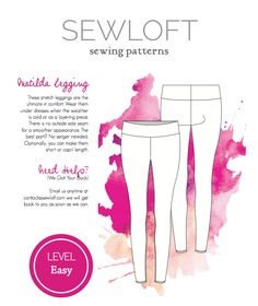 Sewloft Matilda Leggings -Free sewing pattern