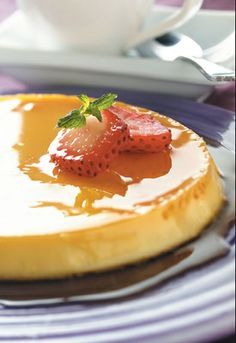 Classic Flan Recipe - Food - GRIT Magazine cup sugar, caramelized 1 can ounces) sweetened condensed milk 1 can ounces) evaporated milk 6 eggs teaspoon vanilla Just Desserts, Delicious Desserts, Yummy Food, Ginger Ale, Empanadas, Mexican Food Recipes, Dessert Recipes, Mexican Desserts, Puddings