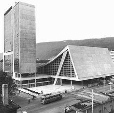 Congress Center and Bath (1961-66) in Biel, Siwtzerland, by Max Schlup