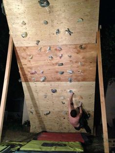 DIY Yard Climbing Wall