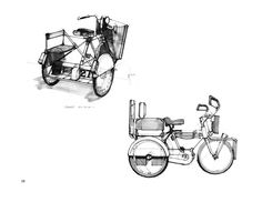 Blade Runner - Street bicycle by Syd Mead for Blade Runner