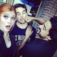 Kat/Clary and Alberto/Simon with Joel/Alaric... #Shadowhunters