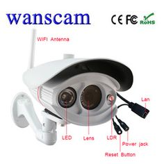 Wanscam (HW0033)-H.264 720P Bullet Outdoor Waterproof Camera HD Wifi Security IR Cam