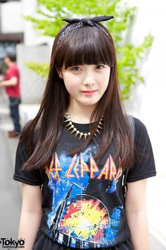 #Harajuku street #japan fashion #kawaii hair&make up style