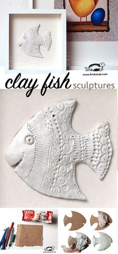 Clay Fish - fun to make for grandma and grandpa