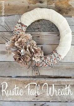 Rustic Fall Wreath   Timeless Rustic Decor For Fall