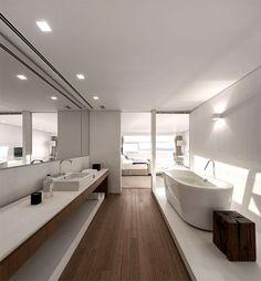 Ultra Luxury Penthouse in Rio de Janeiro | #shadesofwhite #whiteinterior #openconcept